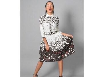 Buttoned up crop shirt & Midi skirt