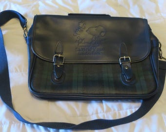 Sanrio Snoopy Vintage Messenger Bag Plaid