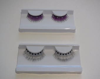A pair of fashion delicate false eyelashes Reusable fancy eyelashes extenstion two colours options
