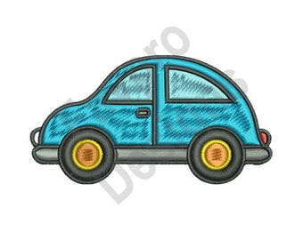 Blue Car - Machine Embroidery Design