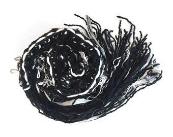 Handmade scarf - mixed fiber