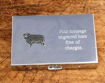 Aries The Ram Calculator Credit/Business Card Holder FREE ENGRAVING