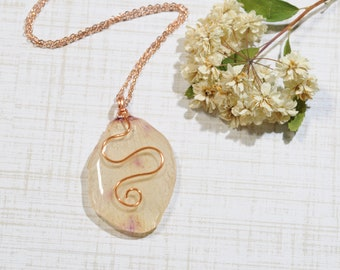 Real Flower Jewelry, Real Pressed Flower Jewelry, Resin Jewelry, Resin Flower Necklace, Resin Flower, Boho, Pressed Flower Nature Lover Gift