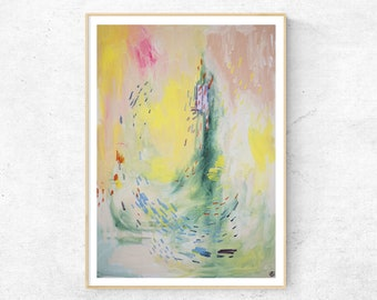 SPRING abstract painting fine art print