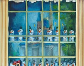 Hidden Minnie, original art, oil painting, landscape art,