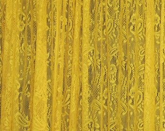 Bright Canery  Yellow Stretch  Lace.