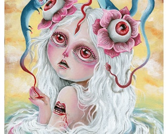 The monsters in my head - Pop surrealism original painting