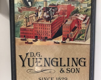 Framed Yuengling and Sons Beer Poster (K-126)
