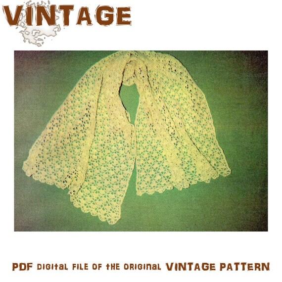 Crochet Pattern Lacy Shawl Pattern Crochet Shawl Pattern Crochet