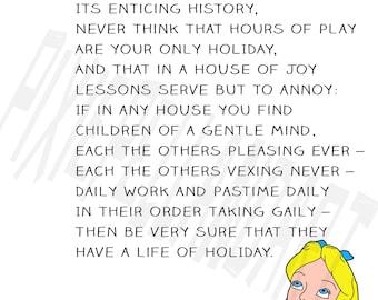 Lewis Carroll Alice in Wonderland Digital Print