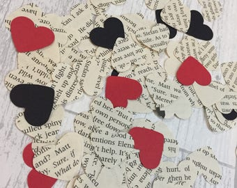 Vampire Diaries Paper Confetti Hearts Birthday Wedding Decoration Table Scattering Scrapbooking Embellishments Crafts