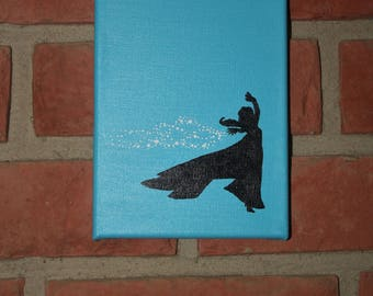 Elsa Silhouette Canvas Painting