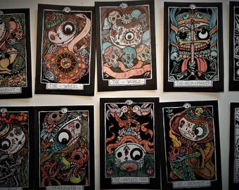 available - DIA de LOS MUERTOS - Day of the Dead - 78 tarot  more one  this is #12 plasticized  only 50 numered deck