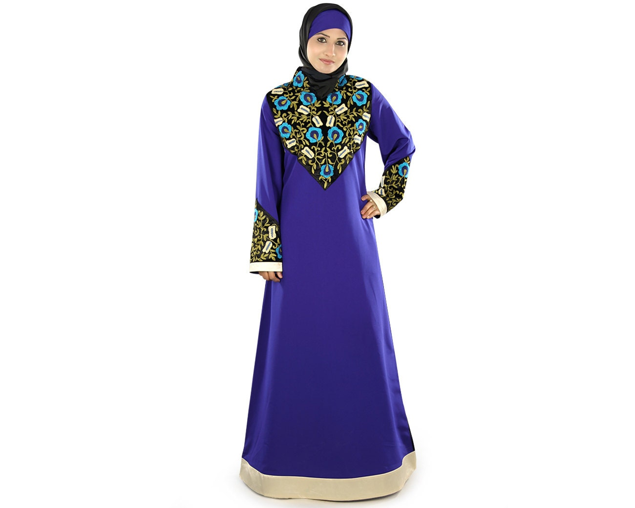Stickerei Abaya Dubai Maxi Partei-Hochzeits-Kleid Eid