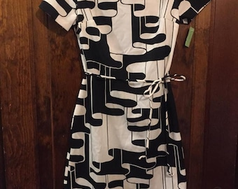 NEVER WORN Mod Dress - 1960s NOS Women's Vintage Dress - Rare