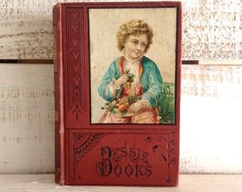 1880, Bessie on Her Travels, Joanna H. Mathews, from the Bessie Books Series, Antique Children's Book, Victorian Book, Decorative, Vintage