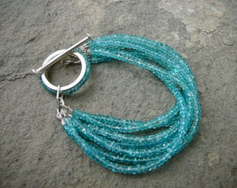 Multi Strand Gemstone Bracelet,Custom Toggle,7 Strand Gemstone Bracelet,Apatite,Amethyst,Black Spinel,Rose Quartz,Green Onyx,Lapis,Garnet