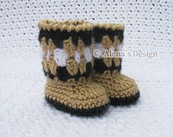 "Crochet Pattern 126 - Crochet Boot Pattern for 18 inch Doll - Crochet Patterns -  High Top Boots for 18"" Doll for 18 in Doll - Dolls Outfit"