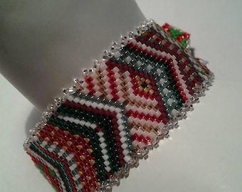 Christmas Peyote Bracelet