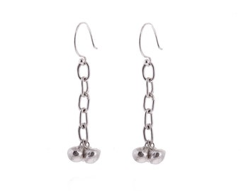 Multi Pebble Chain Earrings