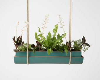 turquoise glaze planter