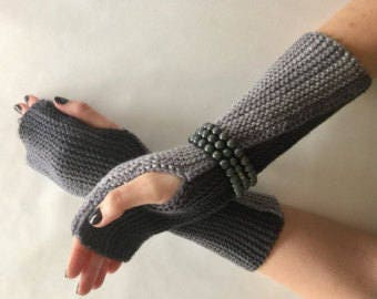 Easy Beginners Knitting Pattern Fingerless Gloves