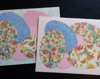Set of 2 Easter Greeting Cards Blank with Envelopes