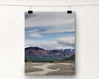 Alaska Photography, Denali Park, Landscape Photo, Braided River