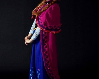 Frozen Disney Movie Anna of Arendelle Cloack and Bonnet