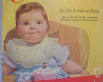 May 1955 Woman's Home Companion Magazine with cover By Leo Aarons has 128 pages of ads and articles