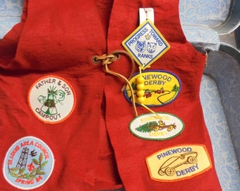 Scout Vest and badges Illinois 1980s