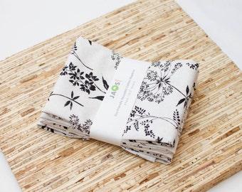 Large Cloth Napkins - Set of 4 - (N3860) - Wildflower Modern Reusable Fabric Napkins