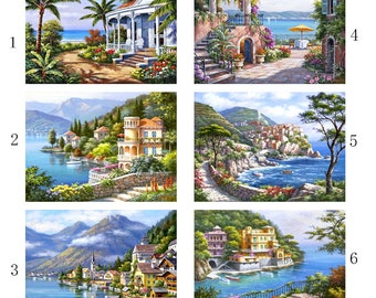 """5D DIY Diamond Painting Full Square Drill """"landscape"""" 3D Embroidery set Cross Stitch Home Wall Art Decor gift Mosaic Crafts kit set"""
