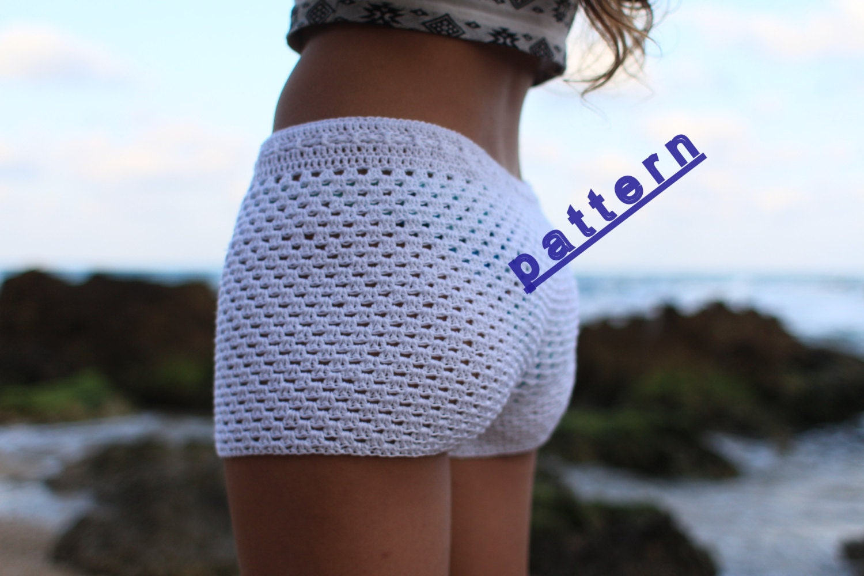 Crochet shorts pattern Lace crochet short PDF Tutorial Pattern white ...