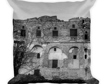 Pompeii Facade Square Throw Pillow, 1:100 Limited Edition