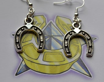 Horseshoe Earrings // Lucky Horseshoe // Lucky Earrings // Good Luck // Horse Shoe Earrings // Rockabilly Earrings // Horse Lover