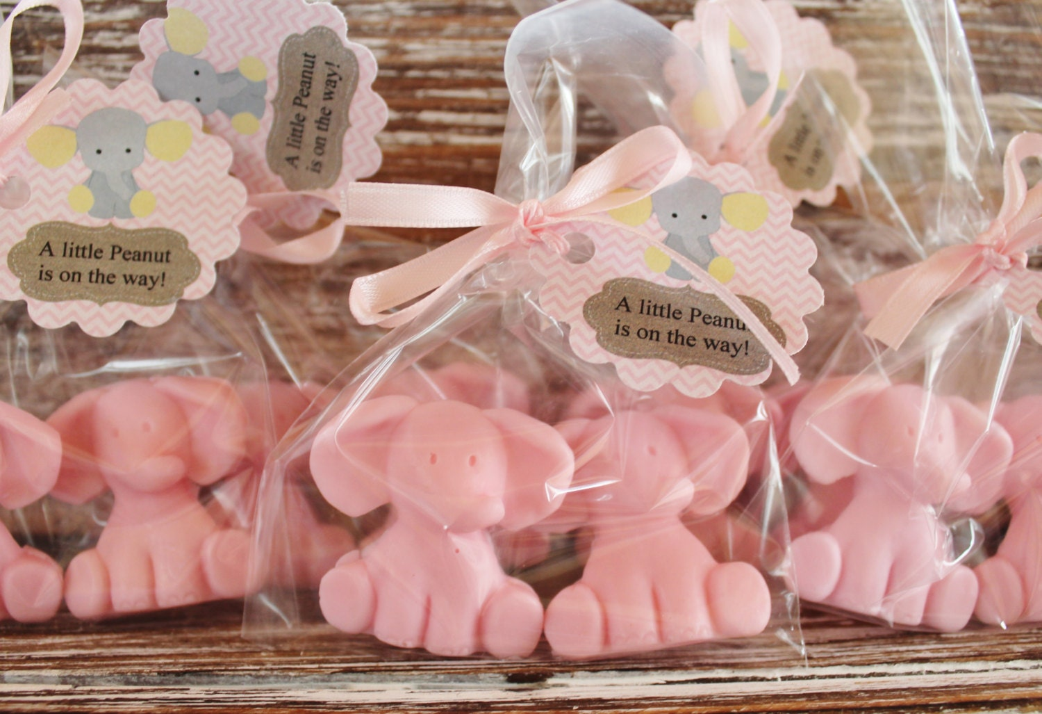 Baby elephant party favor soaps elephant soap baby shower zoom negle Image collections