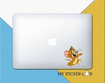 Tom and Jerry MacBook Decal Tom and Jerry MacBook Sticker Jerry Mouse Decal Jerry Sticker Tom and Jerry Laptop Vinyl Decal cmac264
