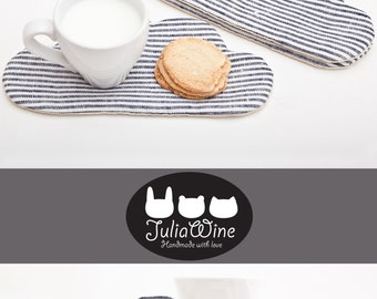 Striped Coasters for cups, Cloud Drink Coasters, Kitchen Accessory Table Decorations Table Wear Coffee and Tea mat