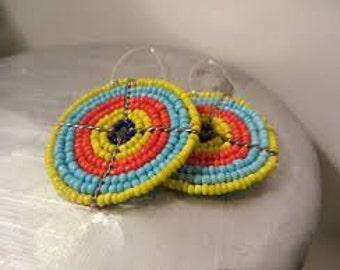Maasai Tri Color Bright Eyes Earrings