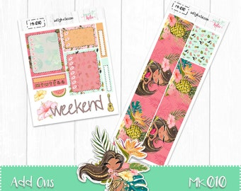 Planner Stickers - Add Ons - Tropical Sticker Kit - Erin Condren Planner Stickers - ECLP Stickers - Summer Planner Stickers - Tropical