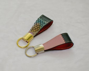 Key-ring, handmade, leather key-ring,leather