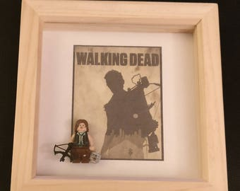 Lego inspired Walking Dead Daryl Dixon framed minifigure
