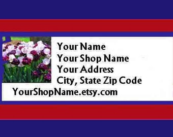 90 PERSONALIZED Return Address Labels. 3 Sheets of White 1-Inch Labels. 5371