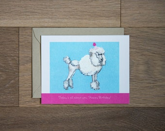 Happy Birthday fancy poodle card