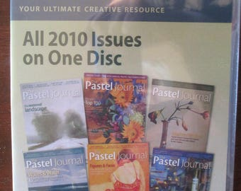 The Pastel Journal Magazine 2010 Back Issues DVD disc 6 issues Annual disc new sealed