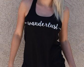 Wanderlust Tank . Wanderlust Shirt . Hiking Tank . Travel Tank . Wanderlust . Adventure Tank Top