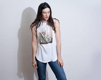Cactus Graphic Tank | Desert Graphic Tee | Vintage Tee | Womens Cactus Graphic T-shirt | Outdoors Tshirts | Desert Print Shirts | L415&Co