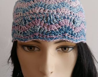 A small hat. Crocheted