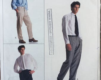Vintage Sewing Pattern Vogue American Designer 2209 Perry Ellis Men's Pants, Slacks, Trousers, Sewing Pattern Size Waist 32  34 36 Uncut